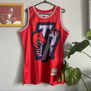 Mitchell and Ness Red Raptors Jersey